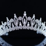 Exquisite Flower Crowns Floral Tiaras Silver Plated Clear Crystal Rhinestones Wedding Bridal Headband Hair <b>Jewelry</b>