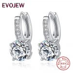 Round Cut Big Zircon Earring 925 Sterling Silver Hoop Earrings for Women Engagement Wedding <b>Jewelry</b> With AAA CZ Gift