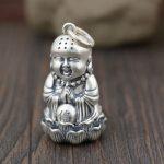 FNJ 925 <b>Silver</b> Buddha Pendant New Fashion Good Luck 100% Pure Original S990 Thai <b>Silver</b> Pendants for Women Men <b>Jewelry</b> Making