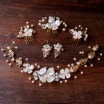 TUANMING New Trendy <b>Jewelry</b> Handmade Pearl Hair Comb Headbands For Bride Hair Accessories <b>Fashion</b> Bijoux Tiara <b>Jewelry</b>
