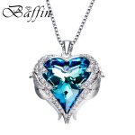 BAFFIN Beautiful Heart Maxi Pendant <b>Necklaces</b> Crystals From Austria For Women Luxury <b>Jewelry</b> 2018 Valentine's Day Gifts