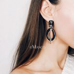 eManco Wholesale Acetic Acrylic Earrings Dark Grey&Coffee Color Spectacle Eye Shape Dangle Earrings 2018 New Arrivals <b>Jewelry</b>