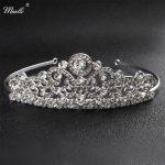 Miallo Classic Wedding Tiaras Silver Crystal Rhinestone Bridal Crown and Tiaras Hair <b>Jewelry</b> Accessories Queen Headpieces