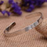 Simple Smooth Circle 925 Sterling <b>Silver</b> Adjustable Cuff <b>Bracelet</b> Bangle