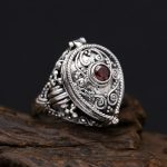 Solid Silver 925 Amulet Box Rings Men With Red Stone Vintage <b>Handmade</b> Real 925 Sterling Silver <b>Jewelry</b> Men Cool Bijoux Gifts