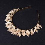 Idealway Women Lovely Hair Accessories Gold Color Leaf Tiara Crown Hairbands Wedding Headdress Decoration Bridal Girl <b>Jewelry</b>