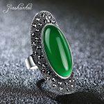 JIASHUNTAI Vintage 925 Sterling Silver Rings For Women Retro Big <b>Wedding</b> Rings Thai Silver <b>Jewelry</b> Female 4 Color
