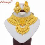 Adixyn Indian Big Heavy <b>Jewelry</b> Sets For Women Gold Color Long <b>Necklace</b>/Earrings African/Dubai/Arab Wedding <b>Jewelry</b> Gifts N06088
