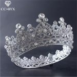 CC tiaras and crowns crystal hairbands round heart shape luxury <b>wedding</b> hair accessories for women cz engagement <b>jewelry</b> HG496