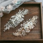 Jonnafe Gold Silver Floral Hair Comb For Bride Tiny Beaded <b>Wedding</b> Hair <b>Jewelry</b> Accessories Hand wired Bridal Headpiece