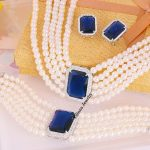 V062669S new crystal zircon sets eerring <b>necklace</b> bracelet Zinc Alloy silver color With Austria crystal pearls Fashion <b>Jewelry</b>