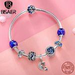 925 <b>Sterling</b> <b>Silver</b> Bracelets for Women Moon And Star CZ Crystal Bracelets & Bangles for Women Authentic <b>Silver</b> <b>Jewelry</b> ECB801