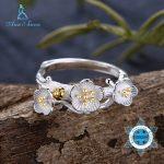 Ann & Snow Real 925 Sterling Silver <b>Jewelry</b> Rings For Women Fashion Women <b>Jewelry</b> <b>Handmade</b> Flower Rings