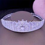 AAA CZ Full Round Bridal <b>Wedding</b> Tiara Crown Hair Accessories <b>Jewelry</b> Birthday Party Crown Headpiece HG1187