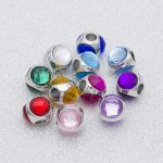 Sparkling water droplets Macroporous charm bead Bracelet DIY big mail eye <b>Jewelry</b> <b>accessories</b>