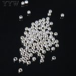 Sold By Bag <b>Fashion</b> Round Ball Spacer Genuine 925 Sterling Silver Beads 2/4/5/6/7/8/9/10mm choose DIY Charms <b>Jewelry</b>