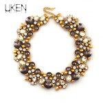 UKEN Vintage Big Chunky Necklaces Women Fashion Z Brand Maxi <b>Jewelry</b> Rhinestones Collar Chokers Necklaces Flower <b>Accessories</b>