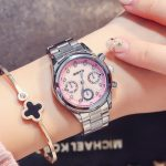 ladies quartz wristwatches stainless steel fashion watches GIMTO brand waterproof diamond woman clocks pink blue <b>silver</b>