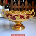 gold carved red plastic fruit plate fruit basket Home Furnishing housewarming gifts <b>jewelry</b> KTV hotel <b>supplies</b>