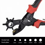 Hand Punch Pliers Tool Leather Hole Punch <b>Jewelry</b> Tool Sizes:2mm, 2.5mm, 3mm, 3.5mm, 4mm, 4.5mm
