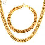 U7 New African <b>Jewelry</b> Set <b>Necklace</b> Set Wholesale HipHop 9MM Width Cuban Chain Men <b>Necklace</b> Bracelet Ethiopian <b>Jewelry</b> Sets S843