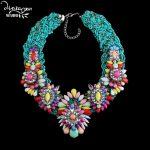 Dvacaman Brand Design Combine Necklace 2916 Bohemian Beads Chain Choker Necklace <b>Handmade</b> DIY Flower <b>Jewelry</b> Collares Mujer W72