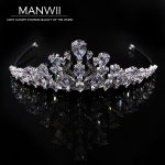 High-end Micro Insert Full Cubic Zirconia Crowns Bride Tiaras <b>Wedding</b> Banquet Headdress Ornaments Hair <b>Jewelry</b> HA20009