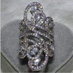Victoria Wieck Women Fashion <b>Jewelry</b> 925 Sterling Silver Simulated stones CZ <b>Wedding</b> Engagement Flower Finger Band Ring SZ5-11