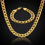 Thick Gold Chain Set Wholesale Gold Color Men <b>Jewelry</b> Necklace Bracelet Dubai <b>Jewelry</b> Sets , Mens Stainless Steel Chains