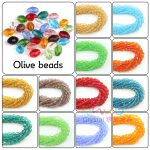 4*6MM 72PCS/LOT Olive Beads Rice Beads <b>Jewellery</b> Making Wedding <b>Decoration</b> Soufeel Faceted Glass Beads Craft Material Necklaces