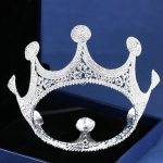 Trendy Crystal Hair <b>Jewelry</b> For Women <b>Silver</b> Color Big Round Tiaras And Crowns Full Rhinestone Bridal Wedding Hair Accessories