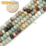 Natural Roundel Mixed Color Faceted Amazonite Beads For <b>Jewelry</b> <b>Making</b> DIY 4X6mm 15inches FreeShipping Wholesale Gem-inside