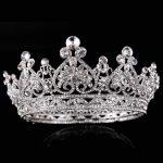 New Luxury Rhinestone Tiaras Queen Crown Wedding Hair Accessories Handmade Hair <b>Jewelry</b> Head Decorations Women Headpiece
