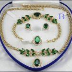 Women's Wedding shipping> Fashion Necklace Bracelet Earring Ring Set real