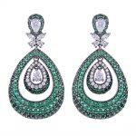 GODKI 44mm Luxury Water Drop Fashion Cubic Zirconia Women Dress Engagement Party <b>Wedding</b> Bridal Earring High <b>Jewelry</b>