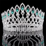 Baroque Diadem Rhinestone Queen King Bride Tiara Crown <b>Jewelry</b> Headdress Bridal <b>Wedding</b> Tiaras and Crowns Hair Accessories