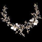 New Arrival Wedding Hair Accessories Gold <b>Silver</b> Bride Hairband Crystal Pearl Leaves Headband Bridal Hair <b>Jewelry</b> Headpiece