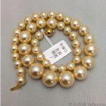 925 <b>silver</b> real natural big South Korea Kim Nanyang pearl <b>necklace</b> female golden circle 8-16mm water tower is a pearl to send hi