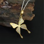 Lotus Fun Real 925 Sterling <b>Silver</b> Handmade Fine <b>Jewelry</b> Fly Butterfly Design Pendant without Necklace Acessorios for Women