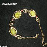 KJJEAXCMY Fine jewelry Multicolored jewelry 925 <b>silver</b> inlay natural beeswax female <b>Bracelet</b> simple wholesale
