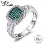 JewelryPalace Round Created Emerald Cocktail Ring Solid 925 Sterling <b>Silver</b> Fine <b>Jewelry</b> Party Rings For Women Best Gift