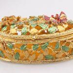 Oval <b>Jewelry</b> Box / Treasure Chest Keepsake Box – Multipurpose Cute <b>Handmade</b> Metal Trinket Box <b>Jewelry</b> Storage Case