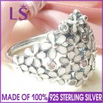 LS Hot Sale High Quality Real 925 Sterling Silver Sparkling Darling Daisy Bouquet Ring For Women <b>Wedding</b> Rings Fine <b>Jewelry</b> N