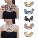 10 Colors Chunky Statement Necklace For Women Neckcklace Bib Collar Choker <b>Handmade</b> Necklace Maxi <b>Jewelry</b>
