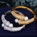 GODKI Luxury Trendy Imitation Pearl Full AAA Cubic Zirconia Women <b>Wedding</b> Party Engagement Bracelet Bangle Dress <b>Jewelry</b>