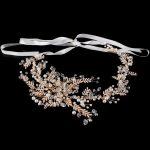 Europe Crystal Bridal Wedding Head Piece Bride Headwear Headband Hair Band 100% <b>Handmade</b> Flower Women Party <b>Jewelry</b> Accessory