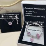 6pcs Fashion <b>Jewelry</b> Set S925 Silver Pink Magnolia Series CZ Dangle Charms and Bracelet Necklaces Set <b>Jewelry</b> <b>Making</b> Woman Gift