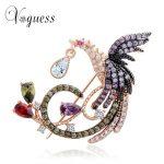 VOGUESS Animal <b>Jewelry</b> Luxurious Colorfull Rhinestone Crystals Bird Peacock Brooches Pin Women <b>Jewelry</b> Wedding <b>Accessories</b>