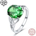 J.C Fine <b>Jewelry</b> Oval Cut Sparkling Ruby & Emerald Topaz 925 Sterling <b>Silver</b> Ring Size 6 7 8 9 For Women Men Engagement Ring