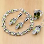 Trendy 925 Sterling <b>Silver</b> Bridal Jewelry Yellow CZ Jewelry Sets For Women Earrings/Pendant/Necklace/Rings/<b>Bracelet</b>